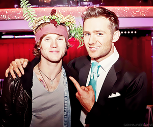 dougie poynter, harry judd, and McFly image