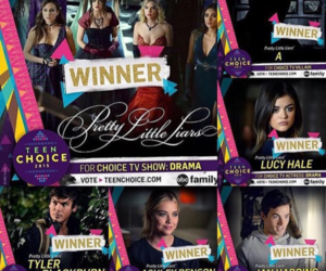 pll, winner, and pretty little liars image