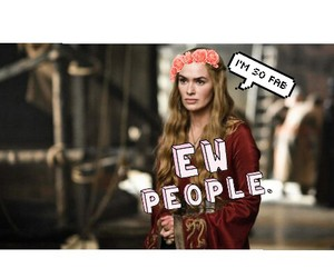 fab, cersei lannister, and funny image