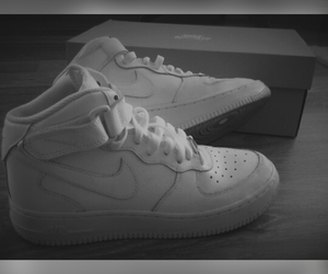 airforce, black&white, and nike image