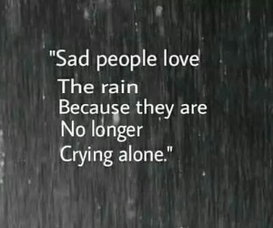 alone, cry, and rain image