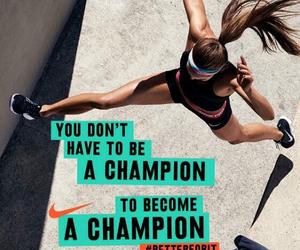 champion, nike training club, and gym image