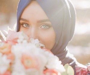 eyes, fashion, and flowers image