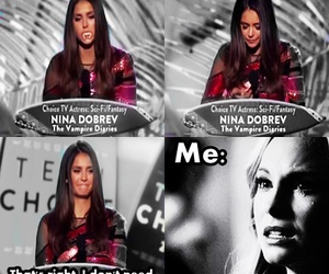 Nina Dobrev, caroline, and sad image