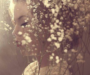 flowers, dreams, and girl image