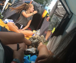 camping, festival, and grunge image