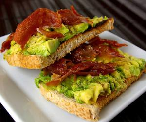 avocado, bacon, and eat image