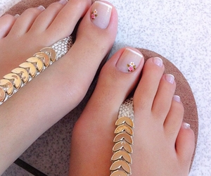 nails and sandals image