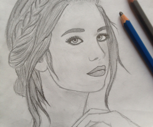 draw, girl, and hair image