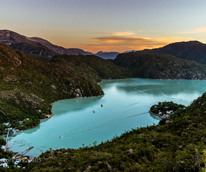 atardecer, chile, and lago image