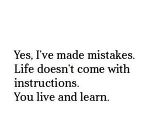 learn, mistakes, and life image