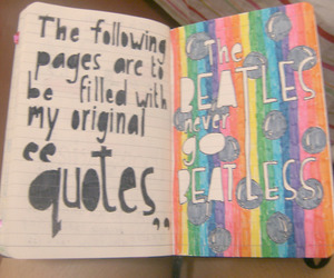 beatles, color, and doodle image