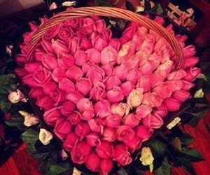 bouquets, heart, and flowers image