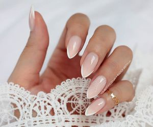 nails, beauty, and lace image