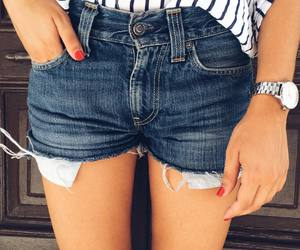 cute shorts, fashion, and ripped image