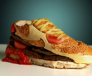 food, nike, and shoes image