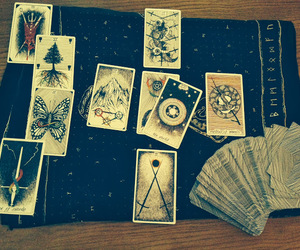 divination, witch, and tarots image