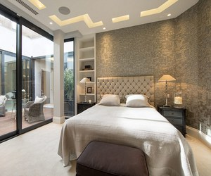 bedroom, design, and glam image