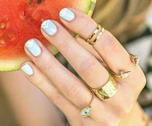 nails, summer, and rings image