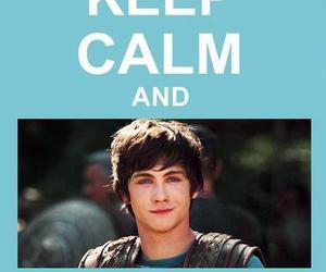 keep calm, logan lerman, and percy jackson image