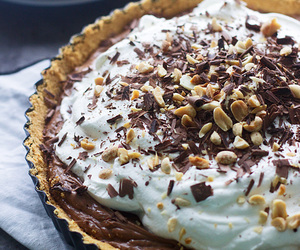 chocolate, cream, and nuts image