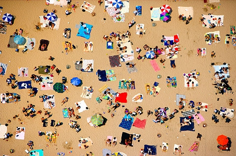 beach and people image