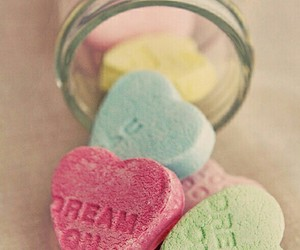 Dream, heart, and candy image