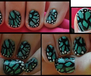 butterflies and nail art image