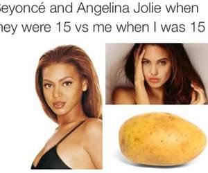 funny, beyoncé, and Angelina Jolie image