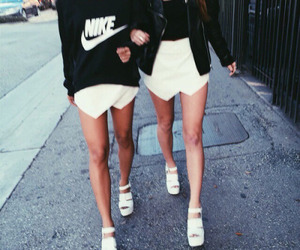 black and white, nike, and friends image