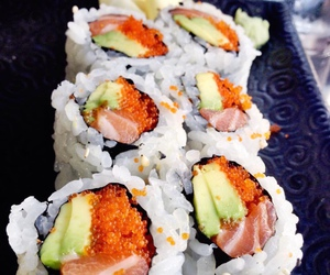 japan, sushi, and asian food image