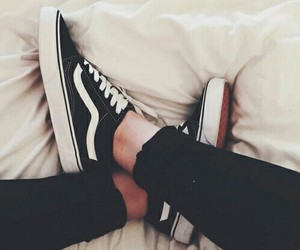blackandwhite, shoes, and vans image