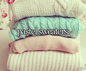 sweater, pastel, and winter image