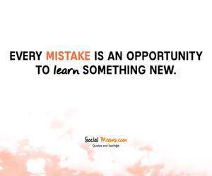 learn, mistake, and qoute image