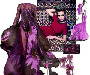 violet, dress, and fashion image