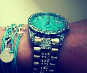 turquoise, watch, and bracelates image