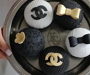 chanel, cupcake, and black image