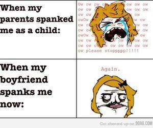 girls, spanking, and boys image