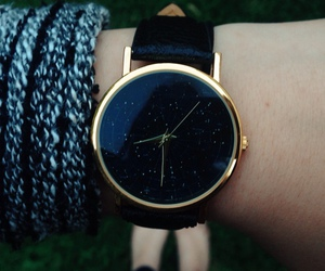 black, classy, and watch image