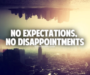 quote, expectations, and life image
