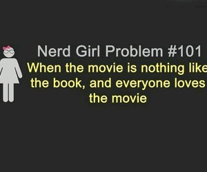 book, nerd, and movie image