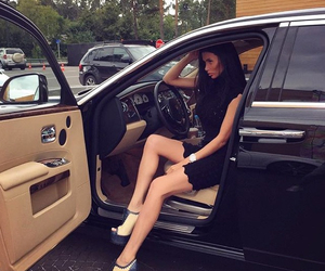 beauty, brunette, and car image