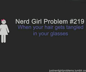 nerd, nerd girl problems, and crush image