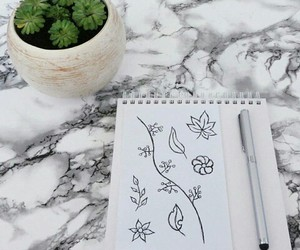 drawing, doodle, and flower image