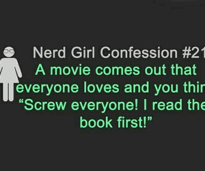 book, movies, and nerd girl image