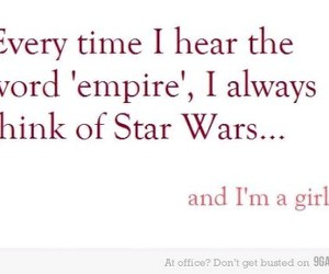 empire, star wars, and nerd girl problems image