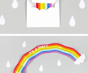 rainbow, diy, and party image