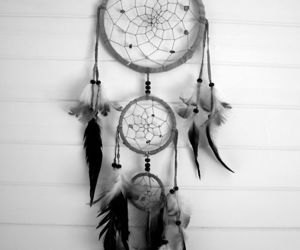 Dream, dreamcatcher, and black and white image