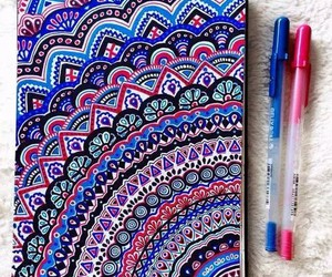 art, drawing, and colors image