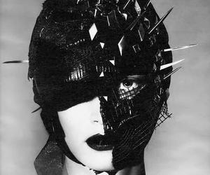 fashion, mask, and black image